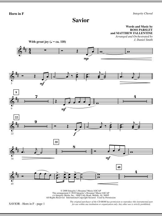 Savior - F Horn (Choir Instrumental Pak)