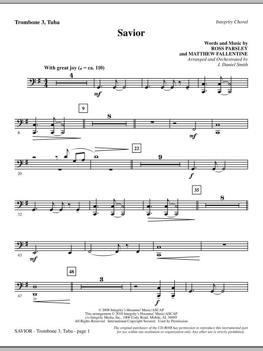 Savior - Trombone 3/Tuba Sheet Music