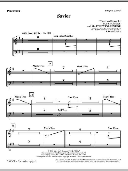 Savior - Percussion (Choir Instrumental Pak)