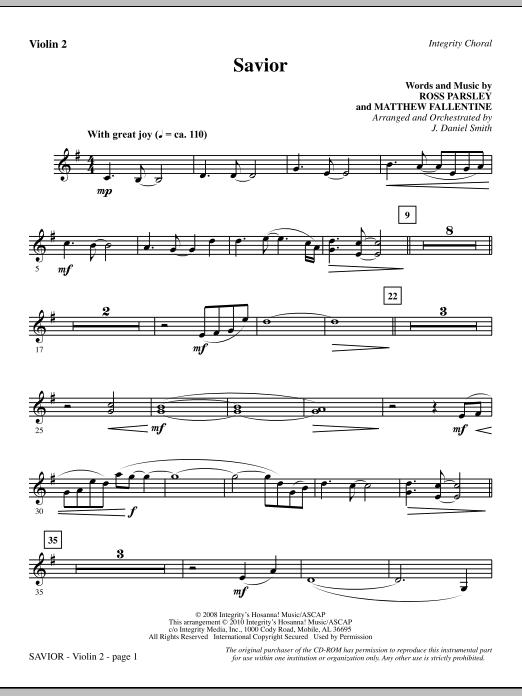 Savior - Violin 2 (Choir Instrumental Pak)