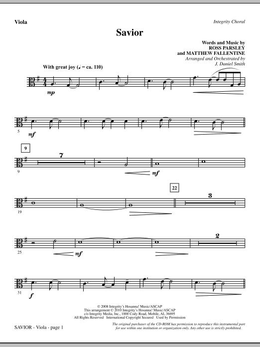 Savior - Viola (Choir Instrumental Pak)