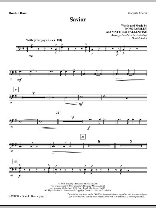 Savior - Double Bass (Choir Instrumental Pak)