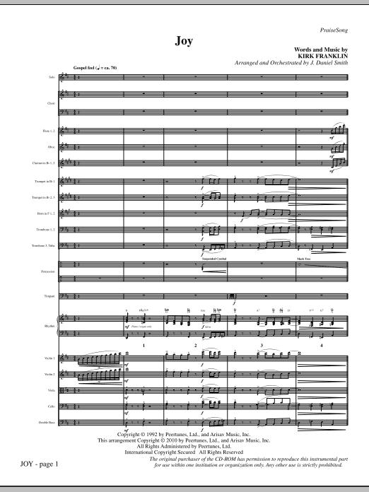 Joy - Full Score Sheet Music