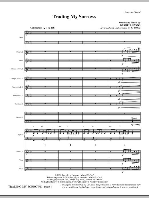 Trading My Sorrows - Full Score (Choir Instrumental Pak)
