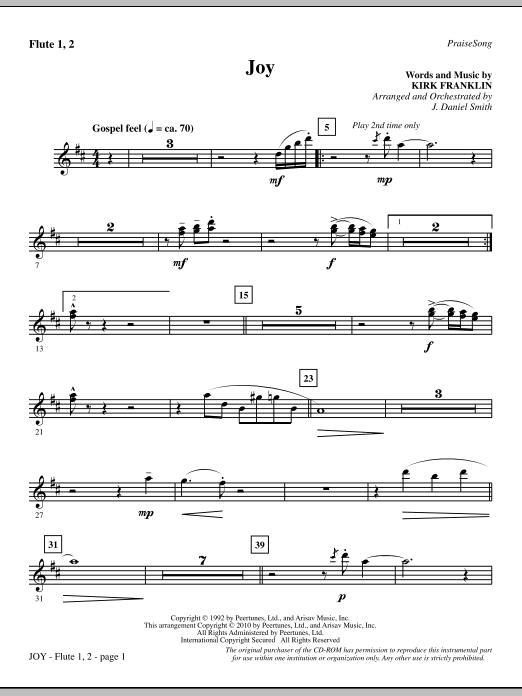 Joy - Flute 1 & 2 Sheet Music