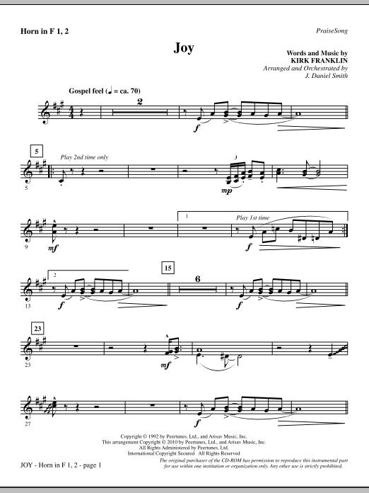 Joy - Horn 1 & 2 Sheet Music
