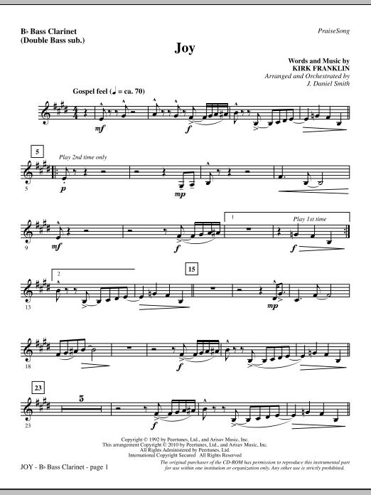 Joy - Bass Clarinet (sub. dbl bass) Sheet Music