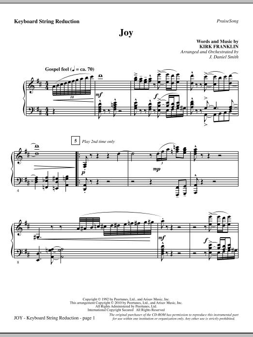 Joy - Keyboard String Reduction Sheet Music