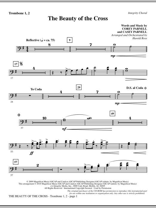 The Beauty Of The Cross - Trombone 1 & 2 (Choir Instrumental Pak)