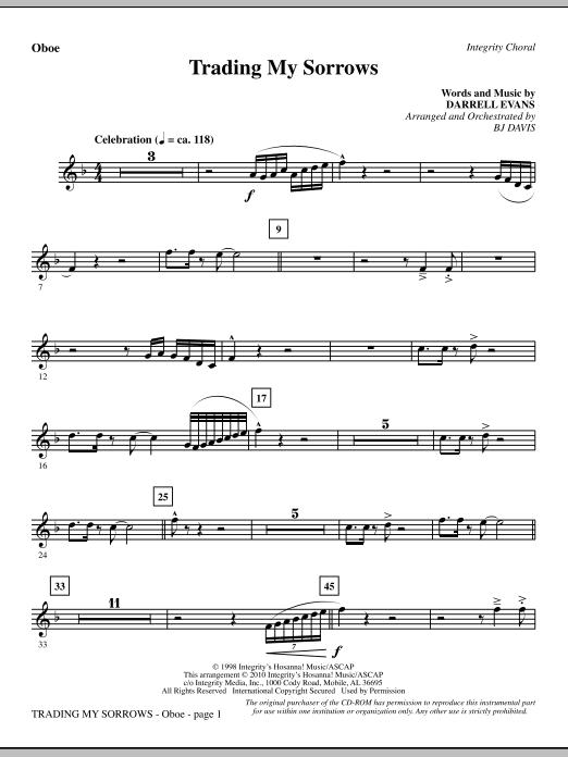 Trading My Sorrows - Oboe (Choir Instrumental Pak)