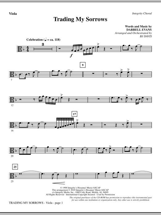 Trading My Sorrows - Viola (Choir Instrumental Pak)