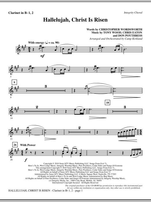 Hallelujah, Christ Is Risen - Clarinet 1 & 2 (Choir Instrumental Pak)