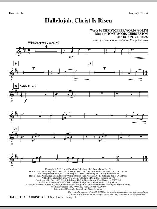 Hallelujah, Christ Is Risen - F Horn Sheet Music
