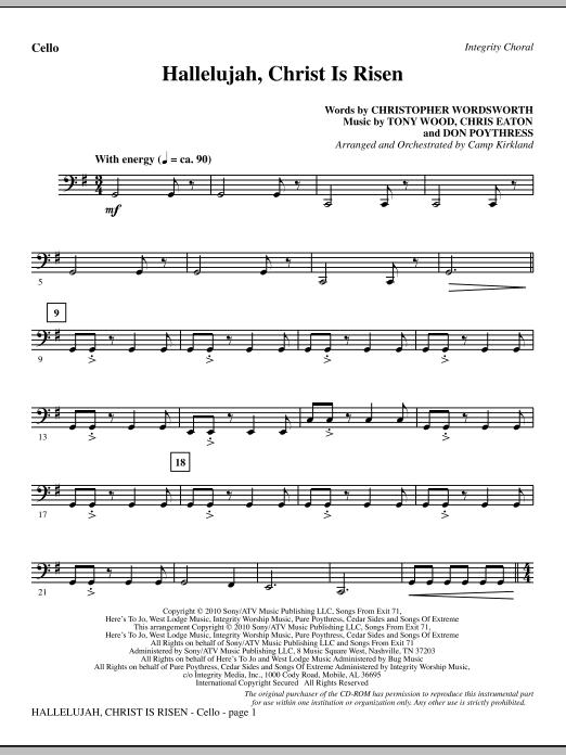 Hallelujah, Christ Is Risen - Cello (Choir Instrumental Pak)