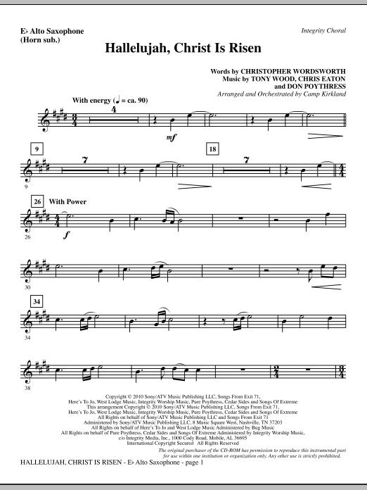 Hallelujah, Christ Is Risen - Alto Sax (sub. Horn) (Choir Instrumental Pak)