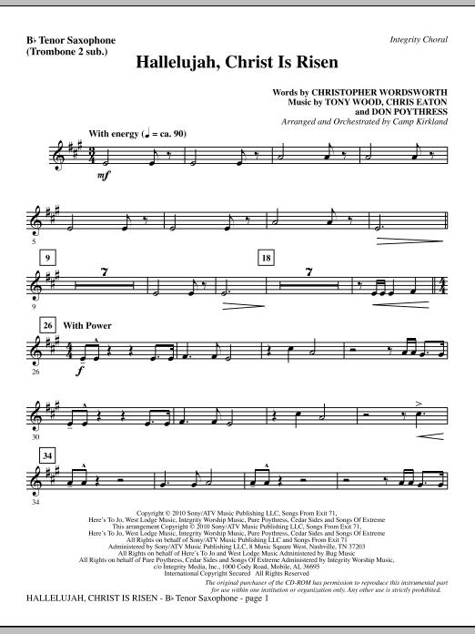 Hallelujah, Christ Is Risen - Tenor Sax (sub. Tbn 2) (Choir Instrumental Pak)