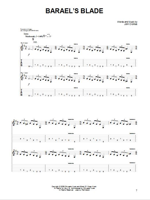Barael's Blade Sheet Music