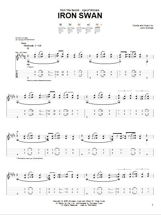 Iron Swan Sheet Music