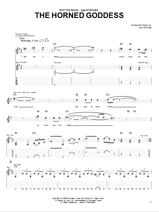 The Horned Goddess Sheet Music