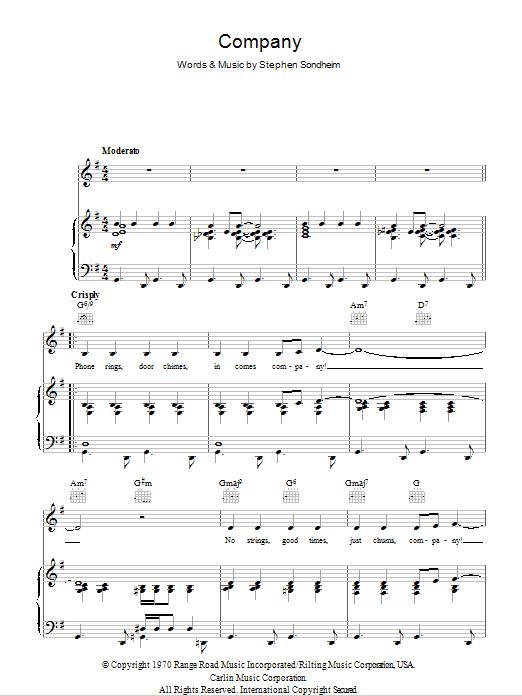 Company Sheet Music