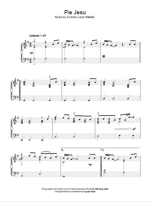 Pie Jesu (Easy Piano)
