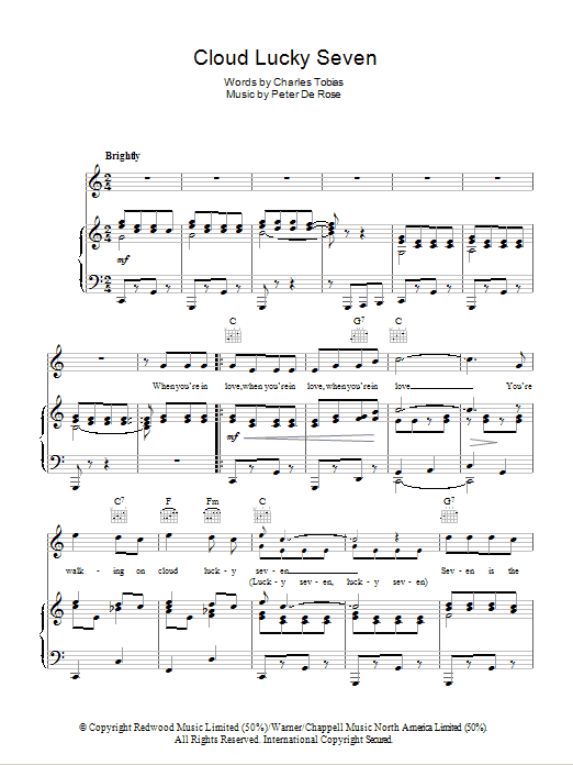 Cloud Lucky Seven Sheet Music