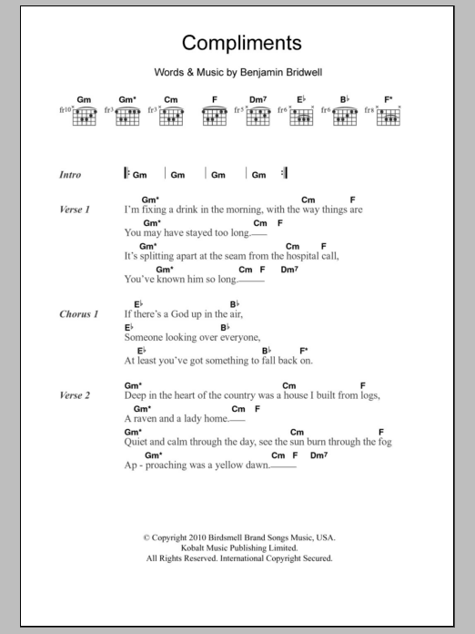 Compliments Sheet Music