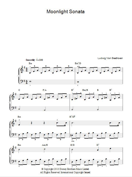 Piano u00bb Moonlight Sonata Piano Tabs - Music Sheets, Tablature, Chords and Lyrics