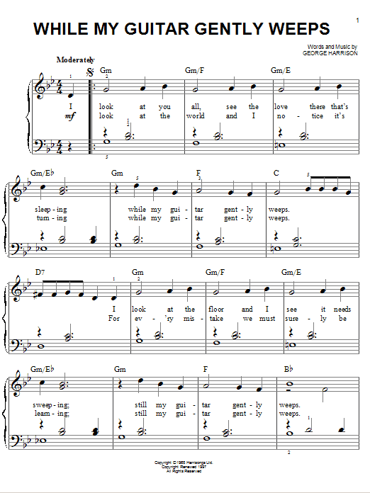 While My Guitar Gently Weeps Sheet Music Direct