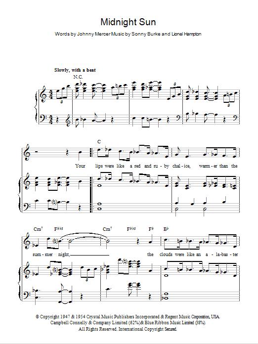 Midnight Sun Sheet Music