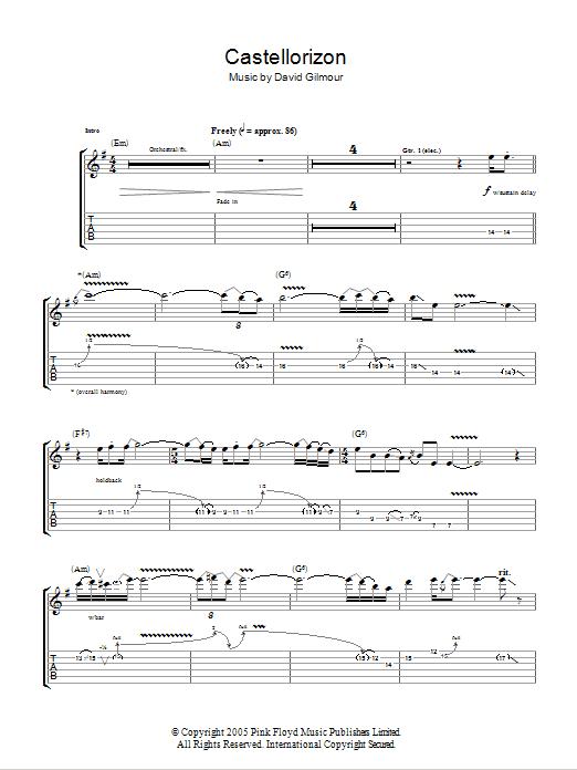 Castellorizon Sheet Music