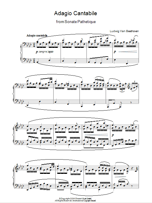 Adagio Cantabile From Sonate Pathetique Op  13, Theme From