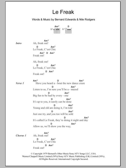 Le Freak Sheet Music