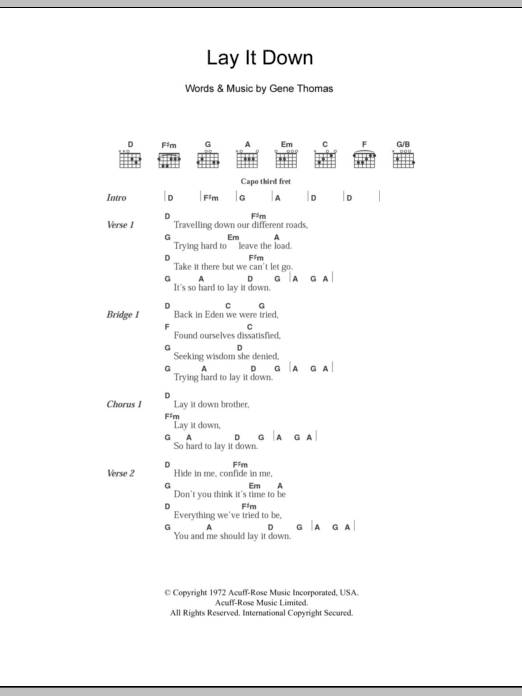 Lay It Down by Everly Brothers - Guitar Chords/Lyrics - Guitar ...
