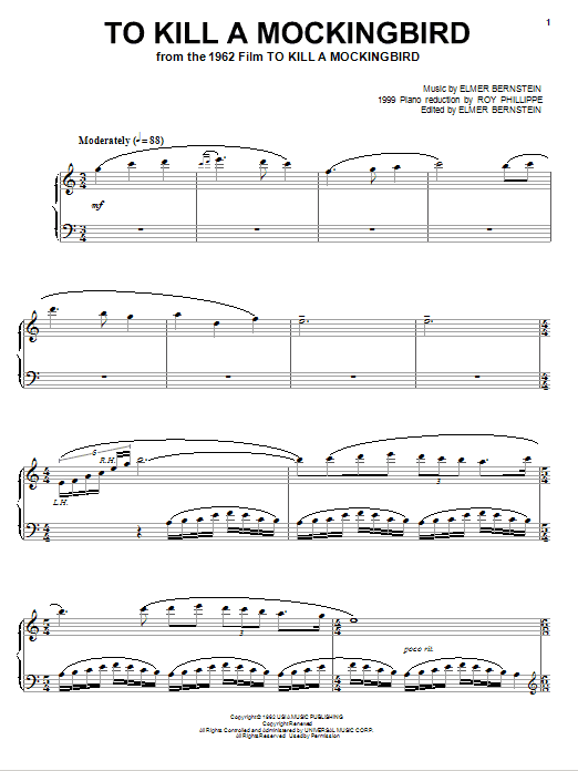 To Kill A Mockingbird Sheet Music