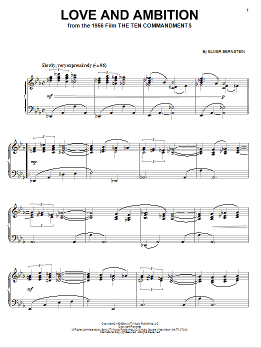 Love And Ambition Sheet Music