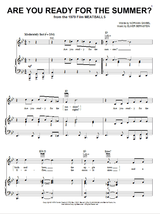 Are You Ready For The Summer? Sheet Music