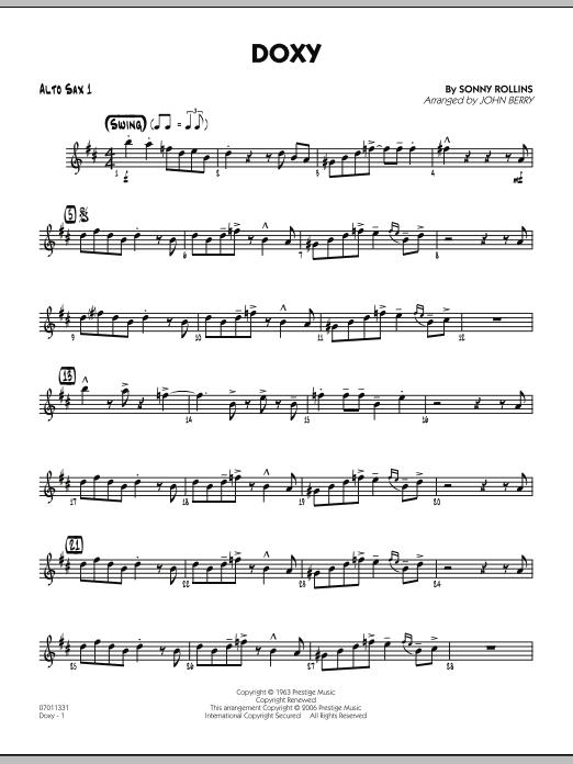 Doxy - Alto Sax 1 (Jazz Ensemble)