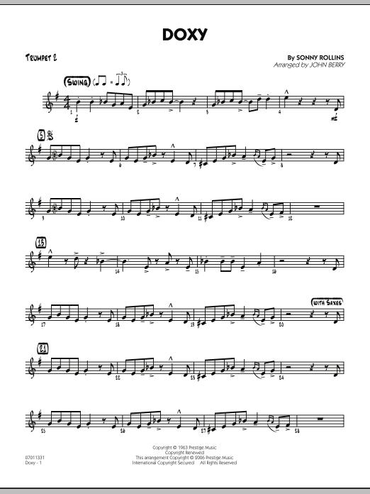 Doxy - Trumpet 2 (Jazz Ensemble)