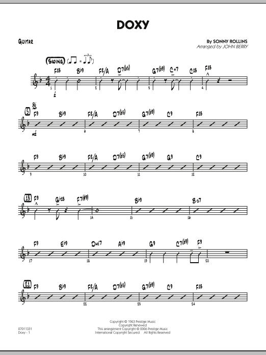 Doxy - Guitar (Jazz Ensemble)