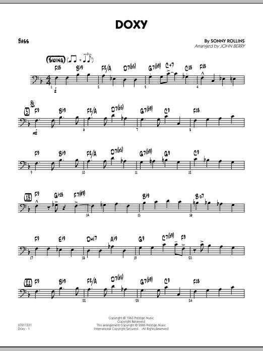 Doxy - Bass (Jazz Ensemble)