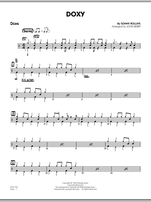 Doxy - Drums (Jazz Ensemble)