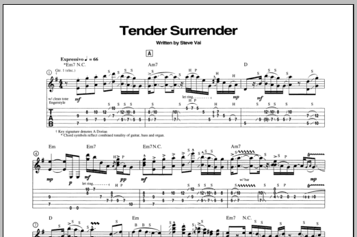 Tender Surrender Sheet Music