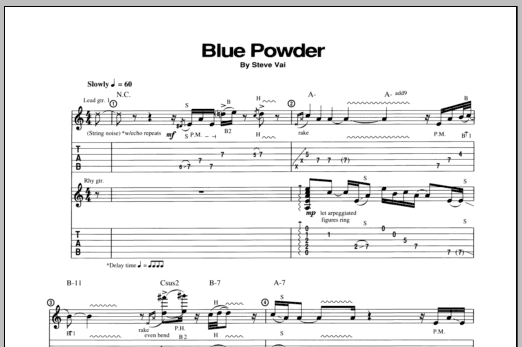 Blue Powder Sheet Music
