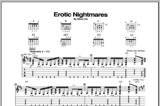 Erotic Nightmares Sheet Music
