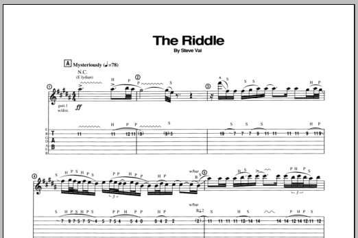 The Riddle (Guitar Tab)