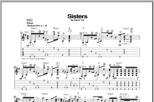 Sisters (Guitar Tab)
