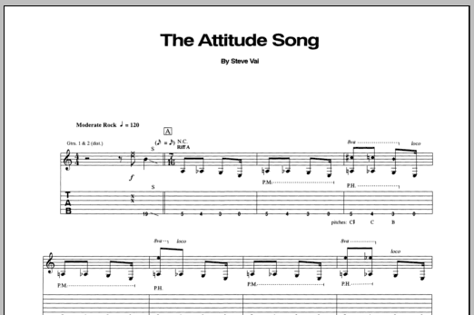 The Attitude Song Sheet Music