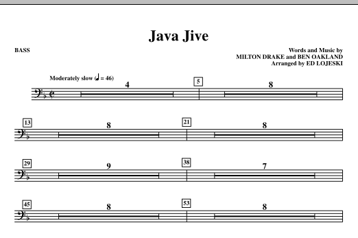 Java Jive (SATB Octavo Accompaniment Parts) - Bass Sheet Music