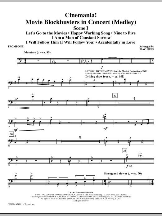 Cinemania! Movie Blockbusters In Concert (Medley) - Trombone (Choir Instrumental Pak)